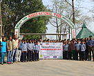 Students from  villages on the fringes of the park participated in a cleaning drive