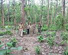 Jai Kishen (standing in the centre) during one of the long range patrolling duty in Corbett TR
