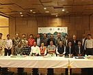 Officials of India and Nepal during the Trans-boundary Coordination Meet in Patna.