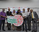 The people behind the Create to Inspire Fellowship - Mr. Dinesh Khanna, Mr. Balaji, Dr. Sejal Worah, Ms. Geeta Chandran
