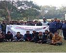 Participants at the sports event organised by WWF-India and the forest department in Pilibhit Tiger Reserve