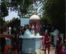 Villagers visiting the 'Siddha Baba' temple